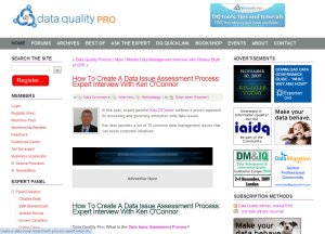 Data Quality Pro interview with Ken O'Connor Data Consultant